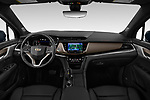 Stock photo of straight dashboard view of a 2020 Cadillac XT6 Sport 5 Door SUV