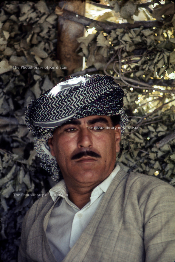 Iraq 1968 <br /> In a village, portrait of a Kurd   <br /> Irak 1968 <br /> Dans un village, portrait d'un homme