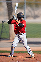 Tyler Quinn (49), from Mililani, Hawaii, while playing for the Cardinals during the Under Armour Baseball Factory Recruiting Classic at Red Mountain Baseball Complex on December 29, 2017 in Mesa, Arizona. (Zachary Lucy/Four Seam Images)