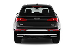 Straight rear view of a 2018 Audi Q5 Design 5 Door SUV stock images