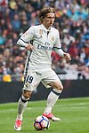 Luka Modric of Real Madrid in action during their La Liga match between Real Madrid and Valencia CF at the Santiago Bernabeu Stadium on 29 April 2017 in Madrid, Spain. Photo by Diego Gonzalez Souto / Power Sport Images