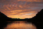 Echo Lake at sunset in August