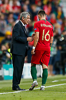 Portugal Maanager Fernando Santos talks to Bruno Fernandes of Portugal during the UEFA Nations League Final match between Portugal and Netherlands at Estadio do Dragao on June 9th 2019 in Porto, Portugal. (Photo by Daniel Chesterton/phcimages.com)<br /> Finale <br /> Portogallo Olanda<br /> Photo PHC/Insidefoto <br /> ITALY ONLY