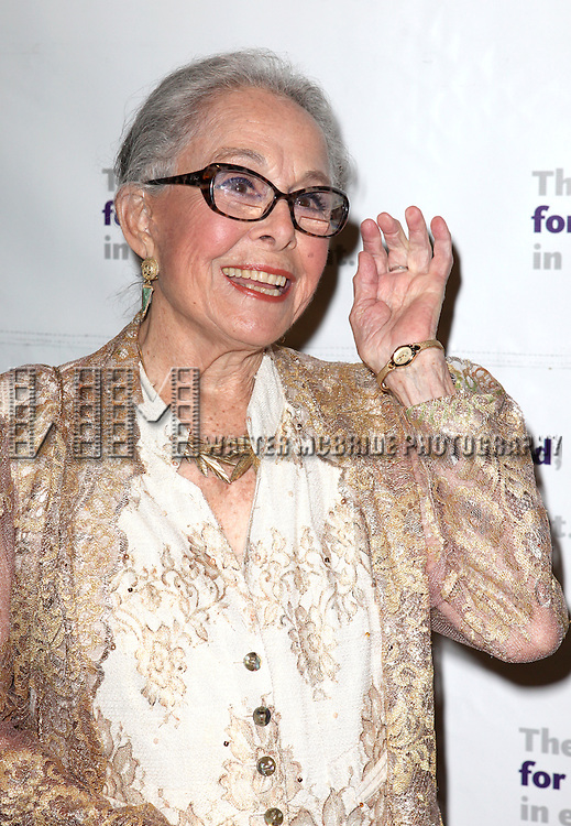 Marge Champion.attending the Actors Fund Gala honoring Harry Belafonte, Jerry Stiller, Anne Meara & David Steiner at the Mariott Marquis Hotel in New York City on 5/21/12
