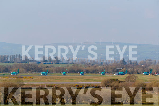 Stobart AIr planes being stored at Farranfore Airport