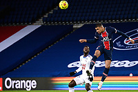 24th December 2020; Paris, France; French League 1 football, Paris St Germain versus Strasbourg;  Kylian Mbappe  PSG  with a strong header forward
