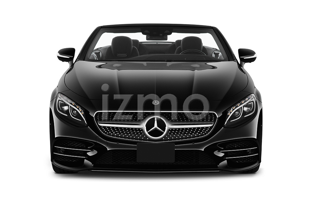 Car photography straight front view of a 2019 Mercedes Benz S-Class - 2 Door Convertible Front View