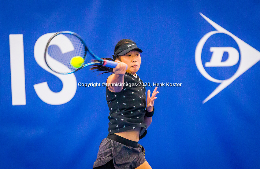 Amstelveen, Netherlands, 17  December, 2020, National Tennis Center, NTC, NK Indoor, National  Indoor Tennis Championships,   :  Demi Tran (NED) <br /> Photo: Henk Koster/tennisimages.com