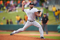 Jackson Generals pitcher Tony Zych (22) delivers a pitch during a game against the Montgomery Biscuits on April 29, 2015 at Riverwalk Stadium in Montgomery, Alabama.  Jackson defeated Montgomery 4-3.  (Mike Janes/Four Seam Images)