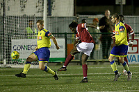 Joseph Boachie of Potters Bar goes close during Haringey Borough vs Potters Bar Town, Pitching In Isthmian League Premier Division Football at Coles Park Stadium on 28th September 2021