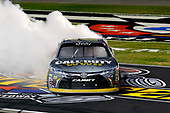 NASCAR XFINITY Series<br /> O'Reilly Auto Parts 300<br /> Texas Motor Speedway<br /> Fort Worth, TX USA<br /> Saturday 4 November 2017<br /> Erik Jones, GameStop Call of Duty WWII Toyota Camry celebrates his win with a burnout <br /> World Copyright: Russell LaBounty<br /> LAT Images