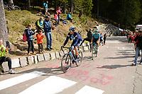 29th May 2021;  Giro D italia stage 20 Valle Spluga to Alpe Motta; Movistar Oliveira, Nelson arrives in  Alpe Motta