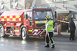 The scene of the fire at O'Neill's pub in the centre of Duleek, Co Meath, One unit from Drogheda fire service backed up by four units from Meath Fire service and Meath Senior Fire officer attended the fire. The O'Neill's Public House and offices of Cllr Sharon Keogan were damaged in the fire.<br /> Picture Thos Caffrey / Newsfile