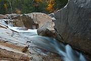 Lower Falls of the Swift River in Albany, New Hampshire USA. These falls are located along the Kancamagus Highway which is one of New England's scenic byways.