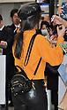 Singer Camila Cabello arrives at Narita International Airport in Japan