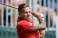 Former Wales International footballer Craig Bellamy during The 2017 Celebrity Cup golf tournament at the Celtic Manor Resort, Newport, South Wales. 1.07.2017 <br /> <br /> <br /> Jeff Thomas Photography -  www.jaypics.photoshelter.com - <br /> e-mail swansea1001@hotmail.co.uk -<br /> Mob: 07837 386244 -