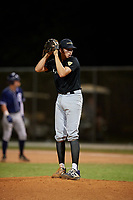 Alex Santos during the WWBA World Championship at the Roger Dean Complex on October 20, 2018 in Jupiter, Florida.  Alex Santos is a right handed pitcher from Bronx, New York who attends Mount Saint Michael Academy and is committed to Maryland.  (Mike Janes/Four Seam Images)