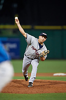 Lakeland Flying Tigers relief pitcher Brandyn Sittinger (13) during a Florida State League game against the Clearwater Threshers on May 14, 2019 at Spectrum Field in Clearwater, Florida.  Clearwater defeated Lakeland 6-3.  (Mike Janes/Four Seam Images)