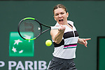 March 10, 2019: Simona Halep (ROU) defeated Kateryna Kozlova (UKR) 7-6, 7-5 at the BNP Paribas Open at the Indian Wells Tennis Garden in Indian Wells, California. ©Mal Taam/TennisClix/CSM