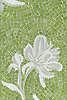 Peony, a jewel glass mosaic, is shown in Opal, Moonstone and Peridot.