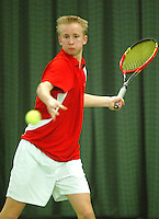 10-3-06, Netherlands, tennis, Rotterdam, National indoor junior tennis championchips, Roy Bruggeling