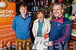 Paddy Creagh (Ballymac Bar), Mary Fitzgerald (Comfort for Chemo) and John Creagh (Colaiste Glann Lí) launching the Colaiste Gleann Lí quiz in aid of Comfort for Chemo in the Ballymac Bar on Friday which is been held in the Ballymac Bar on 29th November.