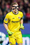 Goalkeeper Bernd Leno of Bayer 04 Leverkusen reacts during their 2016-17 UEFA Champions League Round of 16 second leg match between Atletico de Madrid and Bayer 04 Leverkusen at the Estadio Vicente Calderon on 15 March 2017 in Madrid, Spain. Photo by Diego Gonzalez Souto / Power Sport Images
