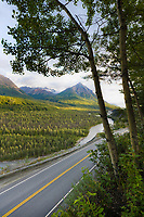King Mountain, Glenn Highway, Matanuska River, Matanuska Valley, Alaska.