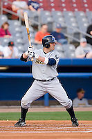 P.J. Pillittere (44) of the Trenton Thunder at bat versus the Connecticut Defenders at Dodd Stadium in Norwich, CT, Tuesday, June 3, 2008.