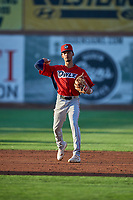 Jeremiah Jackson (23) shortstop of the Orem Owlz during the game against the Ogden Raptors at Lindquist Field on September 3, 2019 in Ogden, Utah. The Raptors defeated the Owlz 12-0. (Stephen Smith/Four Seam Images)