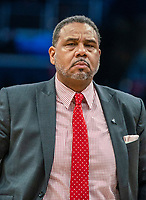 WASHINGTON, DC - FEBRUARY 19: Ed Cooley Head Coach coach of Providence during a timeout during a game between Providence and Georgetown at Capital One Arena on February 19, 2020 in Washington, DC.