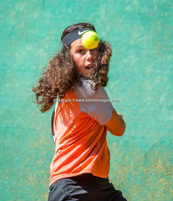 Hilversum, Netherlands, August 7, 2017, National Junior Championships, NJK, Hanna Lindeboom<br /> Photo: Tennisimages/Henk Koster