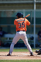 Baltimore Orioles Nick Horvath (35) during a Minor League Spring Training game against the Minnesota Twins on March 25, 2019 at the Buck O'Neil Baseball Complex in Sarasota, Florida.  (Mike Janes/Four Seam Images)