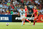 Eduardo Salvio of Argentina (R) in action during the International Test match between Argentina and Singapore at National Stadium on June 13, 2017 in Singapore. Photo by Marcio Rodrigo Machado / Power Sport Images