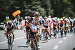 Lunchtime for Mikkel Bjerg (DEN) UAE Team Emirates during Stage 15 of the 2021 Tour de France, running 191.3km from Ceret to Andorre-La-Vieille, France. 11th July 2021.  <br /> Picture: A.S.O./Pauline Ballet | Cyclefile<br /> <br /> All photos usage must carry mandatory copyright credit (© Cyclefile | A.S.O./Pauline Ballet)