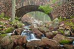 The Cobblestone Bridge on Jordan Stream in Acadia National Park, Downeast, ME, USA