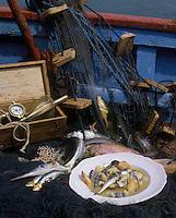 """Europe/France/Bretagne/29/Finistère/Pays bigouden : Soupe """"godaille"""" aux poissons bleus - Recette d'Adolphe Bosser du restaurant """"Le Goyen"""" à Audierne"""
