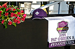 """DEL MAR, CA  AUGUST 28 The Breeders Cup table before the Pat O'Brien Stakes (Grade ll) Breeders Cup """"Win and You're In"""" Dirt Mile Division on August 28, 2021 at Del Mar Thoroughbred Club in Del Mar, CA.  (Photo by Casey Phillips/Eclipse Sportswire/CSM)"""