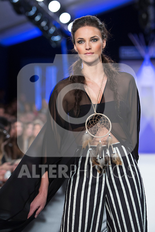 Model Helen Lindes walks the catwalk during David Christian fashion show at MFS in Madrid, Spain. February 09, 2016. (ALTERPHOTOS/Victor Blanco)