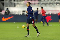 FORT LAUDERDALE, FL - DECEMBER 09: Aaron Long warms up during a game between El Salvador and USMNT at Inter Miami CF Stadium on December 09, 2020 in Fort Lauderdale, Florida.