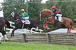 1 October 2011: Elusive Prince and Roddy Mackenzie (left) win the James P. McCormick timber race at Virginia Fall Races in Middleburg, Va. Monstaleur and Joey Elliot (right) were second. Elusive Prince is owned by Irvin Naylor and trained by Katherine McKenna. Susan M. Carter/Eclipse Sportswire