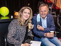 Den Bosch, The Netherlands, April 17, 2021,    Maaspoort, Billie Jean King Cup  Netherlands -  China , Kristie Boogert  (NED) and Tjerk Bogtstra (NED)<br /> Photo: Tennisimages/Henk Koster