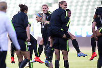 Carson, CA. - Saturday, May 16, 2015: The U.S. Women's National soccer team press conference & training prior to their International friendly vs Mexico at StubHub Center.