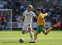 Pictured: Andrea Orlandi of Swansea City in action <br /> Re: Coca Cola Championship, Swansea City FC v Norwich City FC at the Liberty Stadium Swansea, south Wales. Saturday 11 April 2009.<br /> Picture by D Legakis Photography / Athena Picture Agency, Swansea 07815441513