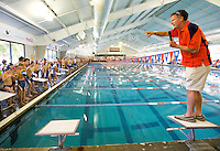 Sports action photography of the SwimMAC Carolina Blue-Orange intrasquad Meet, Saturday afternoon October 18, 2014 at the SwimMAC Training Center at Charlotte Latin.<br /> <br /> Charlotte Photographer - PatrickSchneiderPhoto.com