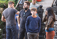 September 24, 2021.Will Speck, Josh Gordon, Winslow Fegley,Constance Wu filming on location for  Sony pictures Lyle Lyle Crocodile<br />   in New York September 24, 2021 Credit:RW/MediaPunch