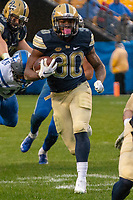 Pitt running back Qadree Ollison. The Pitt Panthers football team defeated the Duke Blue Devils 54-45 on November 10, 2018 at Heinz Field, Pittsburgh, Pennsylvania.