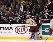 Johnny Gaudreau (BC - 13), Vinny Saponari (NU - 74) - The Boston College Eagles defeated the Northeastern University Huskies 6-3 for their fourth consecutive Beanpot championship on Monday, February 11, 2013, at TD Garden in Boston, Massachusetts.