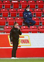 17th May 2020,Stadion An der Alten Försterei, Berlin, Germany; Bundesliga football, FC Union Berlin versus Bayern Munich;  Trainer Hans-Dieter Flick of  Bayern uses his protective mask