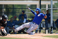 Toronto Blue Jays Juan Tejada (43) during a minor league spring training game against the Pittsburgh Pirates on March 21, 2015 at Pirate City in Bradenton, Florida.  (Mike Janes/Four Seam Images)